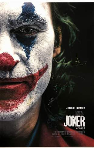 Joker 2019 Poster Joaquin Phoenix Autographed Signed