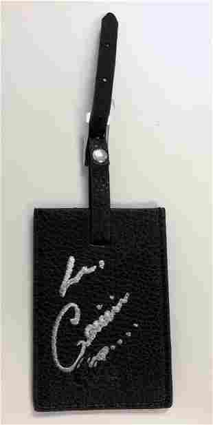 Celine Dion Autograph Signed Luggage Tag