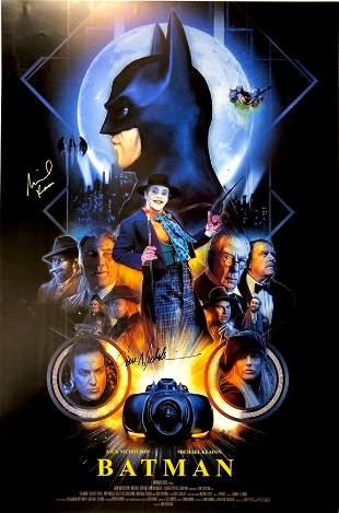 Autograph Signed Batman Returns Michael Keaton Poster