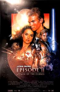 Autograph Signed Star Wars Attack of the Clones Poster