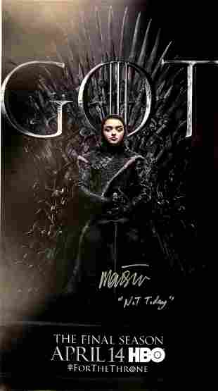 Autograph Signed Game of Thrones Poster