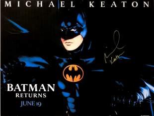 Autograph Signed Batman Poster