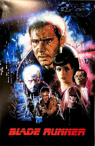 Autograph Signed Blade Runner Poster