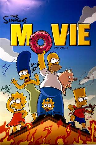 Autograph Signed Simpsons Movie Poster