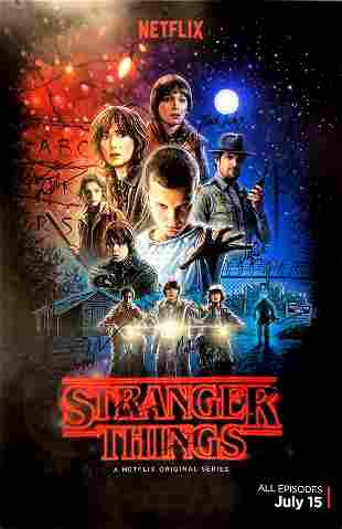 Autograph Signed Stranger Things Poster