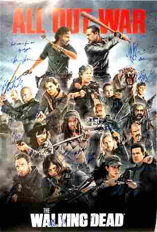 Autograph Signed Walking Dead 8 Poster