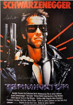 Arnold Schwarzenegger Autograph Signed Terminator