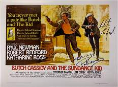 Paul Newman Autograph Signed Sundance Kid Poster