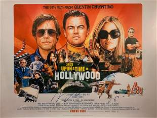 Autograph Signed Once Upon a Time in Hollywood Poster