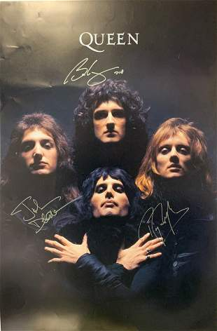 Autograph Signed Queen Poster