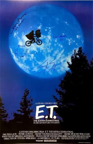 Autograph Signed E.T. Poster