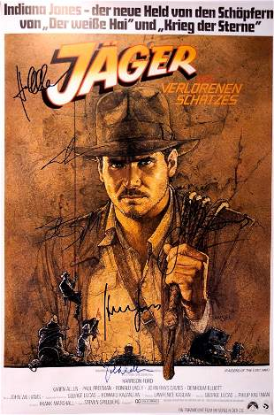 Autograph Signed Indiana Jones Lost Ark Poster
