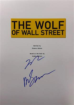 Signed Wolf of Wall Street Movie Script Cover