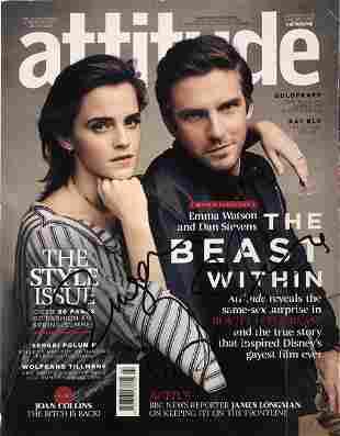 Signed Emma Watson Dan Stevens Magazine