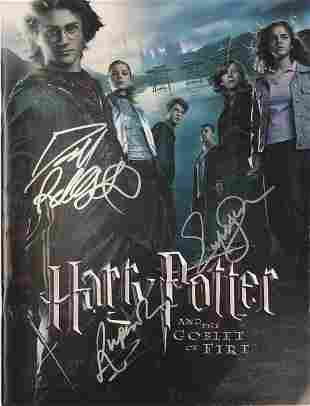Signed Harry Potter Goblet of Fire Movie Picture Book