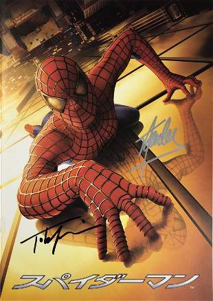 Signed Spiderman Movie Picture Book