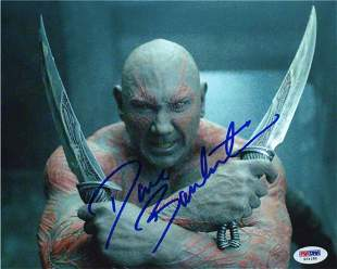 Dave Bautista Autographed Signed Photo