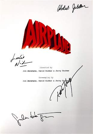 Autograph Signed Airplane Script Cover