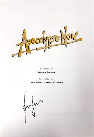 Autograph Signed Apocalypse Now Script Cover
