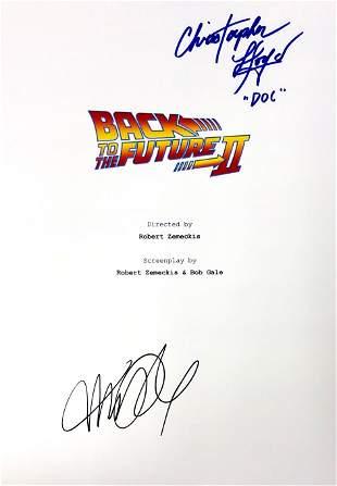 Autograph Signed Back to Future Script Cover