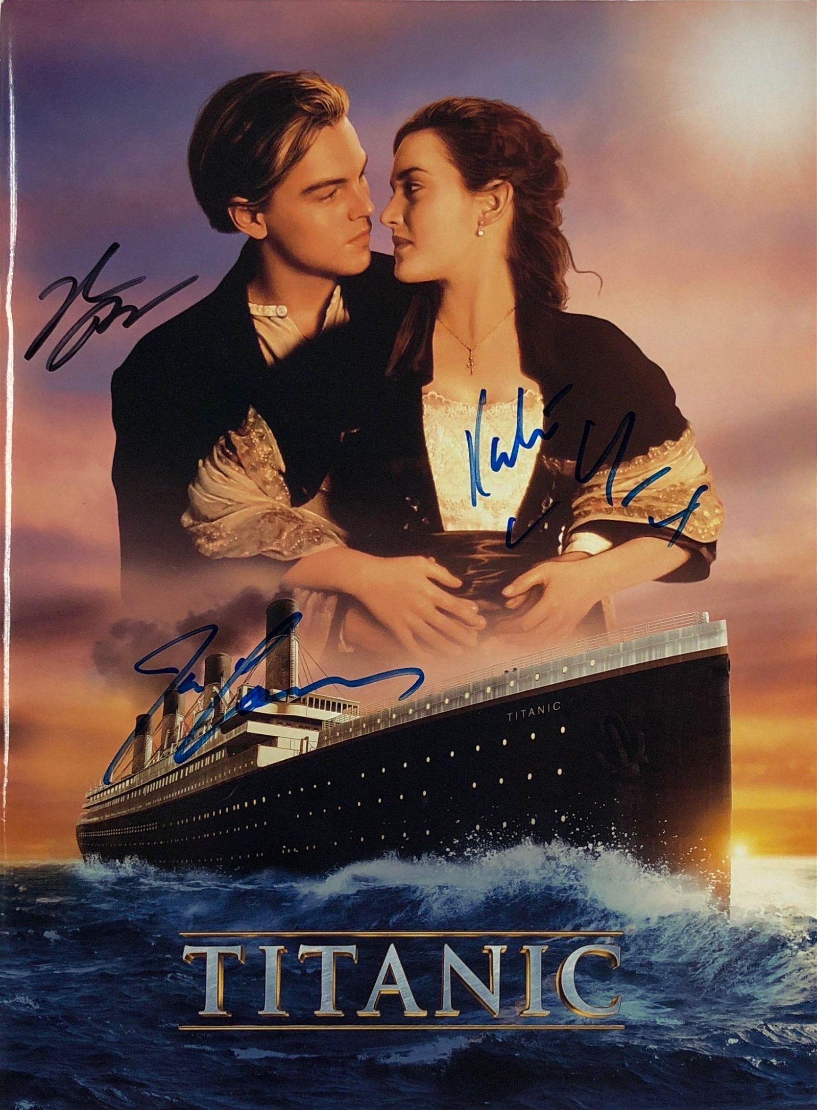 Signed Titanic Movie Picture Book