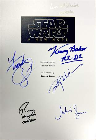 Autograph Signed Star Wars New Hope Script Cover