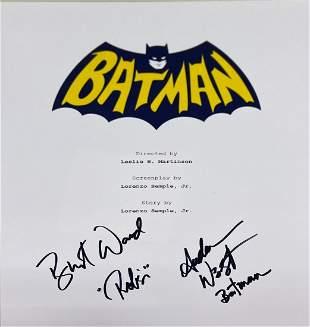 Autograph Signed Batman Script Cover