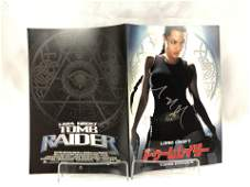 Tomb Raider Angelina Jolie Signed Picture Book