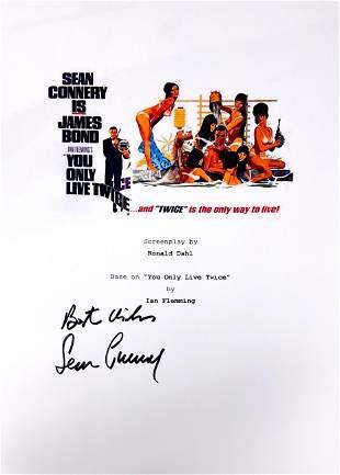 Sean Connery Autograph Signed James Bond 007 Script