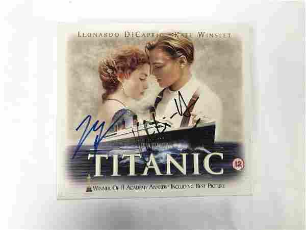 Kate Winslet Leonardo DiCarpio Autograph Signed Titanic