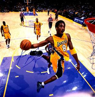 Kobe Bryant Autograph Signed Poster