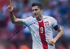 Football Robert Lewandowski Autographed Signed