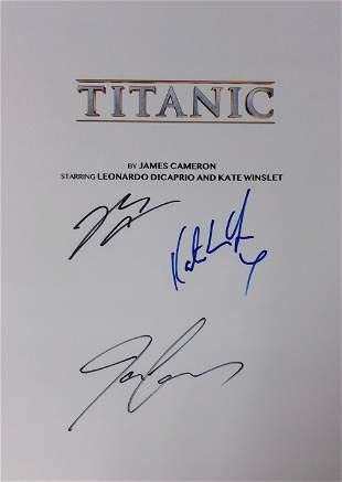 Titanic Signed Script Cover Leonardo DiCaprio