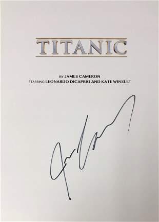 Titanic Signed Script Cover James Cameron