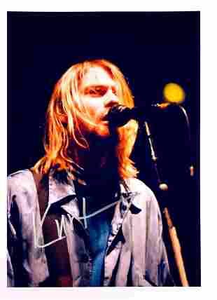 Nirvana Autograph Signed Photo