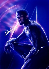 Chadwick Boseman Autograph Signed Black Panther Photo