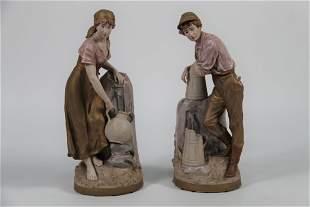 A Pair of Royal Dux Statues