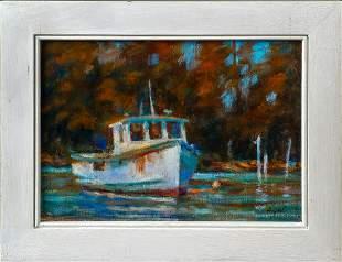 "Belva Ann Prycel ""Lobster Boats in New Harbor"""