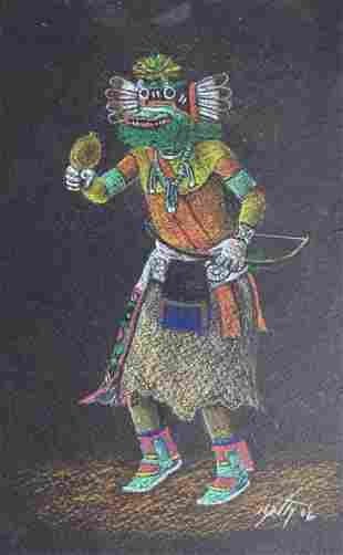 "Neil David, 3 Katsina (""Kachina"") Paintings, 2006"