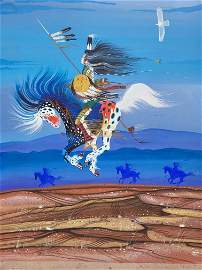 Rance Hood, Comanche On Painted Horse