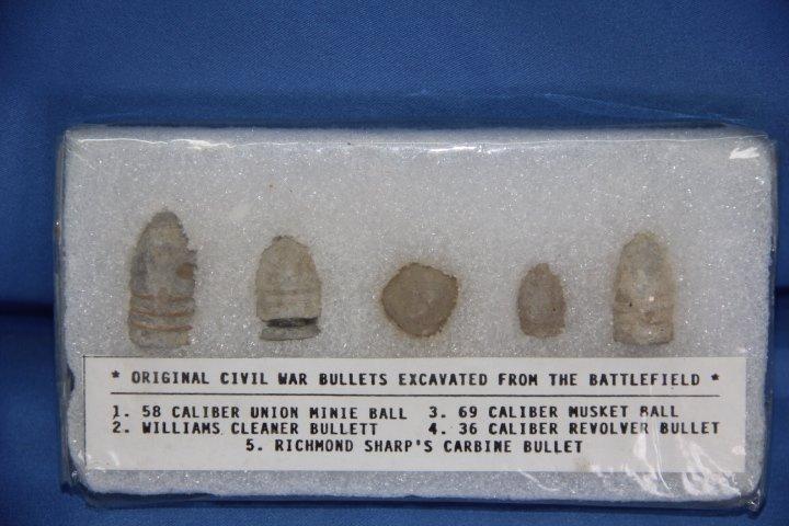 Group of Five Civil War Bullets
