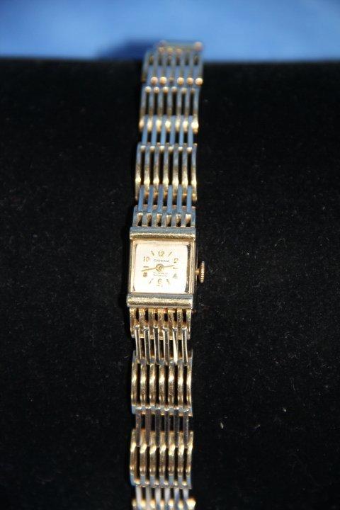 Two Tone 14K Gold Ladies Hamilton Watch