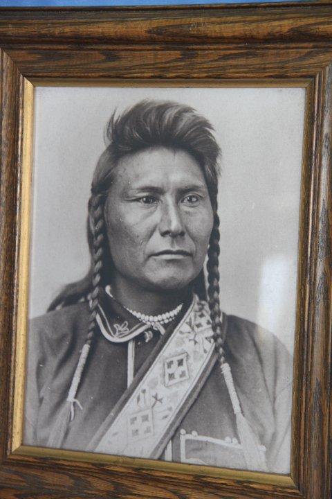 Framed Photo of Chief Joseph Nez Perce.
