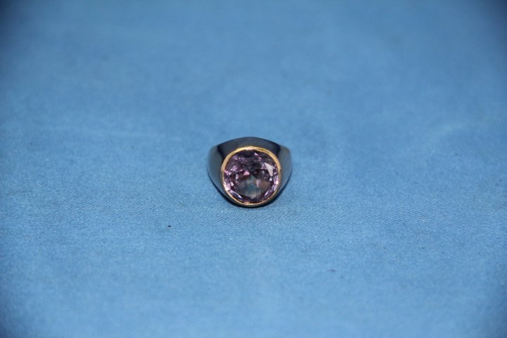Ladies 18K Gold and Chinese Alexandrite Ring