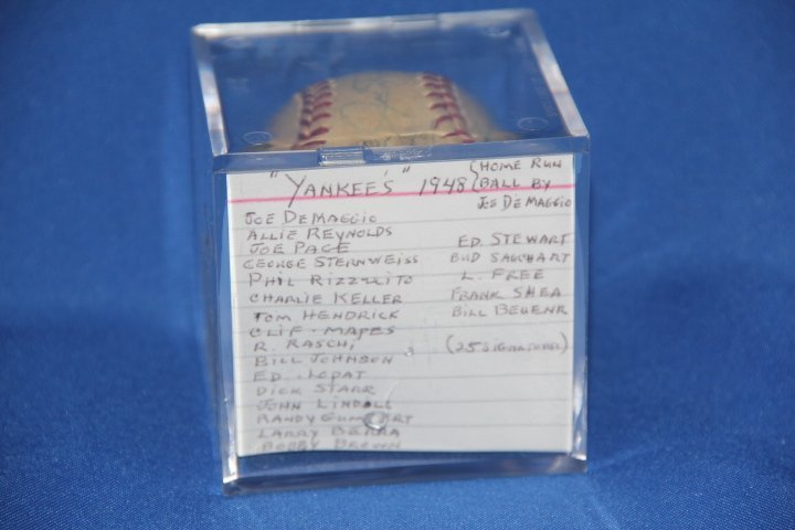 Signed New York Yankees Baseball With 2 Larry Berra
