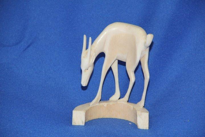 Carved Ivory Deer.
