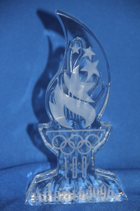 Waterford Crystal 1996 Olympic Commemorative Statue