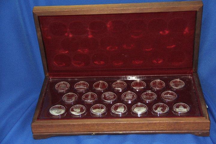 American Landmarks Commemorative Sterling Silver Medals
