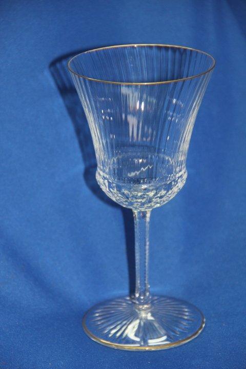 "Saint Louis France Crystal Wine G- ""Apollo Gold"" 12"