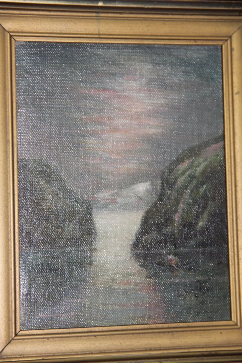 Framed and Signed Oil on Canvas of a Water Scene